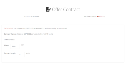 Contract Page screenshot