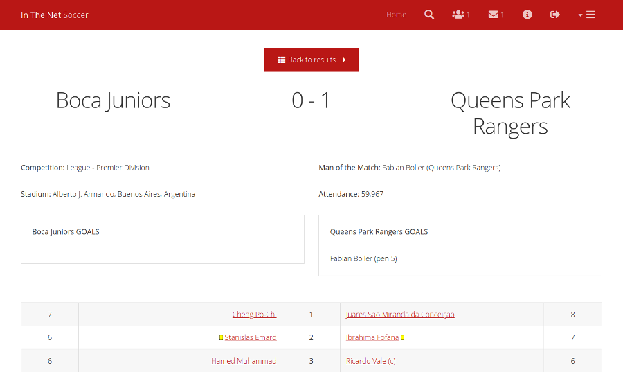 Match Result screenshot